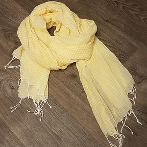 American Eagle Outfitters Cotton Yellow Scarf Wrap